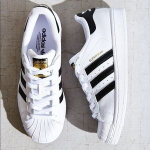 Adidas White Superstar Trainers